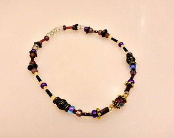 Fancy Stretchy Beaded Anklet
