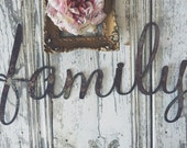 Rusty { family } Metal Letters Sign Wedding Decor