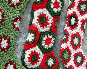 Custom-Made Crocheted Christmas Stocking in your choice of colors