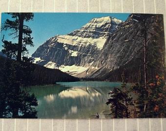 Vintage 3.5 x 5.5 Mt Edith Cavell Postcard, Jasper National Park, Canada Travel, Alberta Souvenir