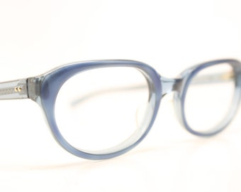 NOS Blue  Cat Eyeglasses Unused cat eye glasses vintage cateye frames eyeglasses NOS