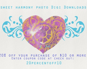 Sweet Harmony Photo Digi Download Coupon:  20% off of 10 dollars or more