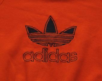 vintage embroidered Adidas crew neck sweatshirt