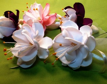 Hir&light fabric flowers: make without glue
