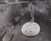 Silver Libra pendant: The constellation of Libra on a sterling silver pendant