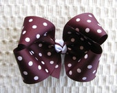 2321 large Texas A&M Aggie maroon dot boutique bow