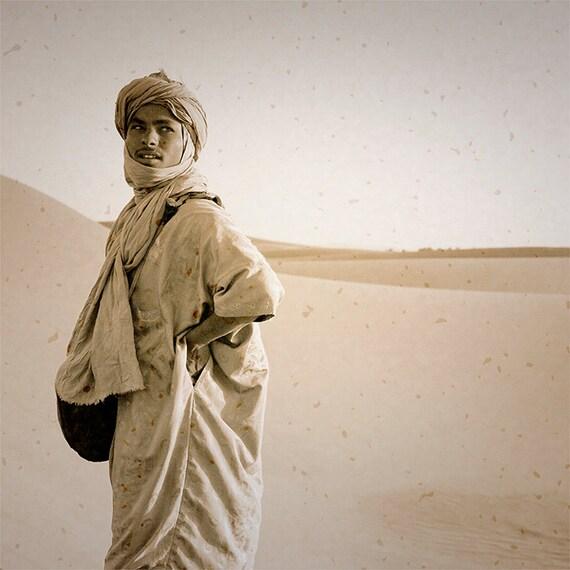 Morocco photography, Travel photograph, Berber man photo, Sahara desert landscape,Morocco wall art, fine art photo, large wall art
