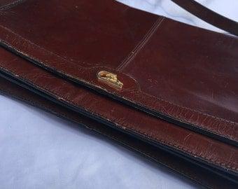 Vintage 60's Maroon Leather Purse