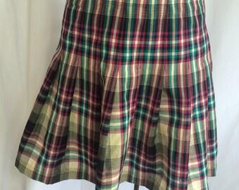 SALE! Vintage Pendleton Drop Waist Pleated Short Skirt