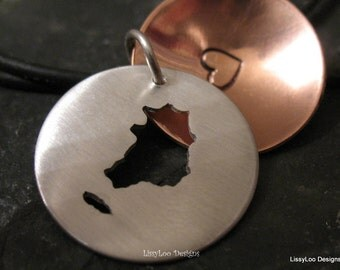 South Korea Locket Necklace Charm, South Korean Art Jewelry, Adoption Pendant Present, LDS Missionary Gift, Vacation Momento