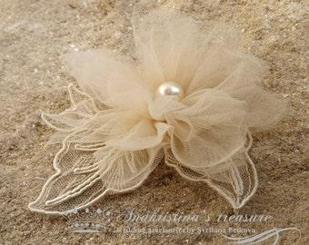 Bridal Flower Clip Vintage Bridal Fascinator