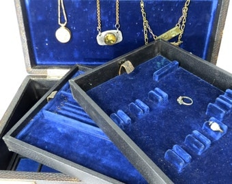 Jewelry Salesman's Sample Suitcase with Trays - Vintage Jewelry Storage, Shop Display, Photo Prop