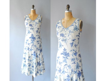 1970s Lawn Party Dress / Floral Dress / 70s does 30s