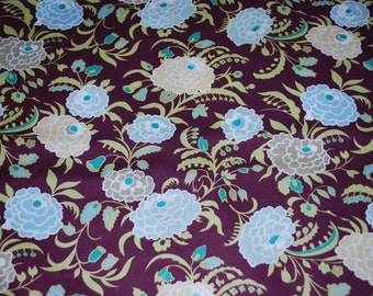 Amy Butler Fabric-Gypsy Caravan Collection-Wine Gypsy Mum-1/2 Yard