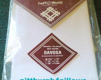 1 - Zweigart - Davosa - 13 1/2x 18 - 100% Cotton - White