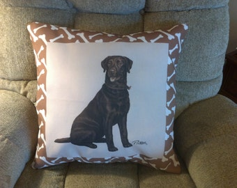 Black Lab Dog Climaweave Pillow