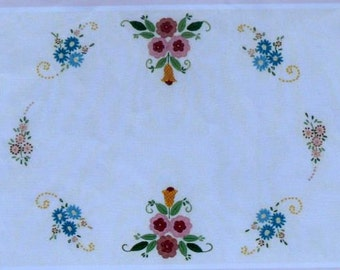 High Tea - Jacobean Style Stamped Embroidery - Roseworks Decor Design- Kit DDK6