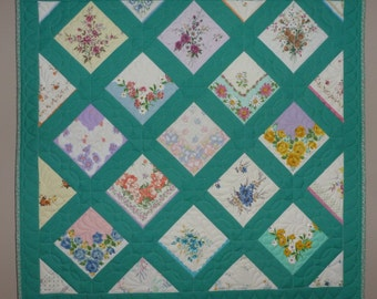 Reproduction Vintage Hankie Wallhanging