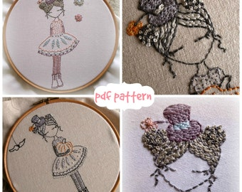 pastels and pumpkins hand embroidery pdf pattern