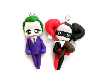 Joker and Harley - Miniature Sculpture - Charm Figurine