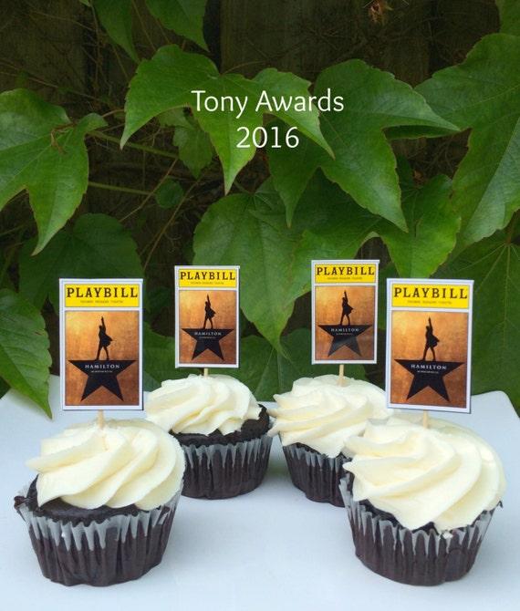 Broadway Tony Awards Hamilton Party Cupcake by jacolynmurphy