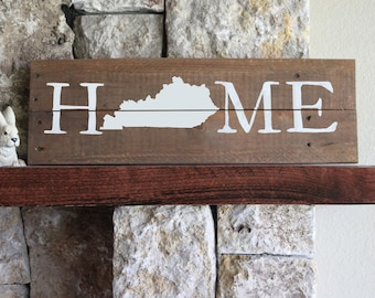 Kentucky Home,Reclaimed Wood Sign,KY Sign,Kentucky Artwork,Rustic Kentucky Sign,Wooden Kentucky,Wood Kentucky Sign,Kentucky Wall Art,Wood KY