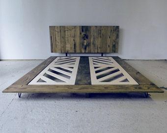 Minimalist-Reclaimed Wood Platform Bed