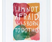 Joan of Arc I Am Not Afraid Art Print