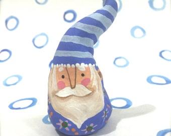 Santa Figurine Blue