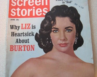 Elizabeth Taylor Richard Burton magazine covers stories articles 13 back issues movie magazines