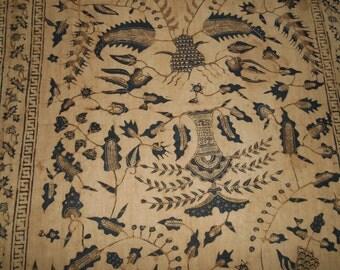 Cotton batik turban Minangkabau West Sumatra katun tanah liat 93 inch x 19 inch from 1950's