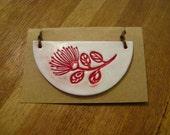 Half circle Pohutukawa stem pendant
