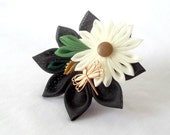 New Trend Ring Corsage Cute Flower Cocktail Ring with Dragonfly Kanzashi Adjustable