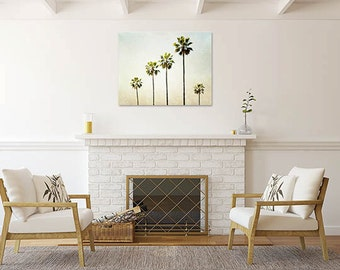 Large Wall Art, Palm Tree Canvas Gallery Wrap, California, Ombre, Canvas  Wall Part 61