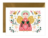 Christmas greetings cards - holiday greetings card- holiday card - greetings cards - Christmas Angel