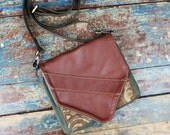 NEW Leather Travel Bag Cross Body Shoulder Bag for Camera Accessories Messenger Paisley