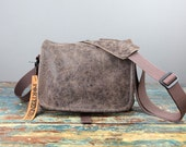 Mirrorless Leather Camera Bag - Waxed Canvas Leather Compact Camera System Video Bag