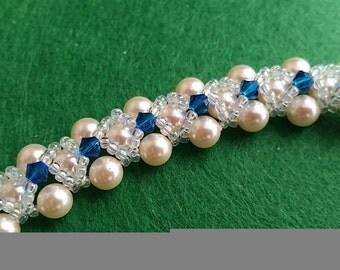 Swarovski Elements Pearl and Crystal Bracelet