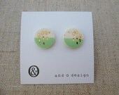 Yuuyake 2 Tone Stud Earrings SALE