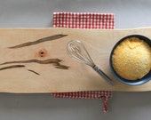 Rustic Polenta Board // Hard Wood // Silver Maple // Serving Tray // Large Footed Platte