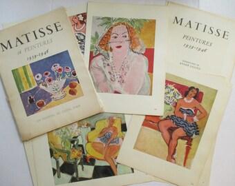 Vintage Henri Matisse Prints - 1940's Art Prints - Matisse 16 Peintures 1939 - 1946 - Paris France - Portfolio