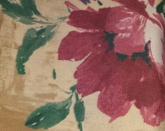 Tan Fabric with Floral Print