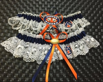 Auburn University handmade wedding garter or prom set new style.