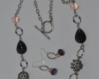 Crystal Long necklace set