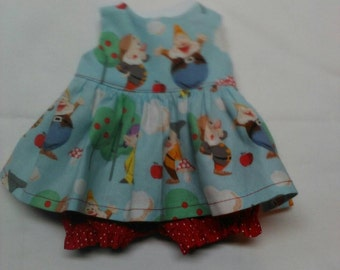 """Disney Seven Dwarfs Baby Alive  And Waldorf Doll Clothes Adorable Dress 10"""" 12"""" Or 15"""""""