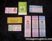 Grateful Dead Orignal Vintage Concert Tickets Lot of 8 1980's and 1990's