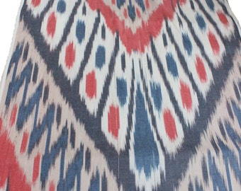 Uzbek cotton ikat adras fabric