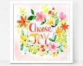 Art Print Choose Joy