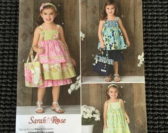 Simplicity 2171 Girls Sundress Sewing Pattern Sarah Rose Size 3-8 UNCUT