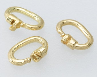 Jump Ring, 14K Yellow Gold 4.6 x 1.8mm Link Lock Jump Ring
